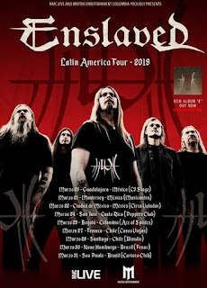 "POSTER ENSLAVED ""Latin American Tour 2019"""