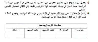 جديد تقييم مادة التربية الإسلامية في برنامج مسار