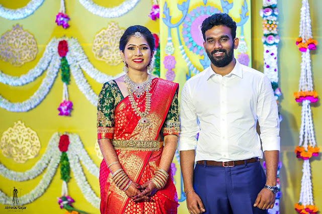 Paritala Sreeram and Gnana Engagement