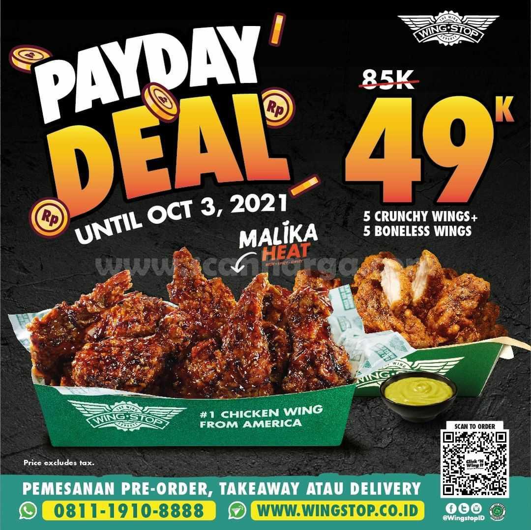 Promo Wingstop Payday Deal Terbaru s.d 03 Oktober 2021