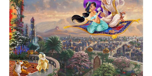To celebrate Disney's D23 Expo, Inside The Magic is giving away this Aladdin painting by Thomas Kinkade Galleries worth nearly $800 to one lucky winner!