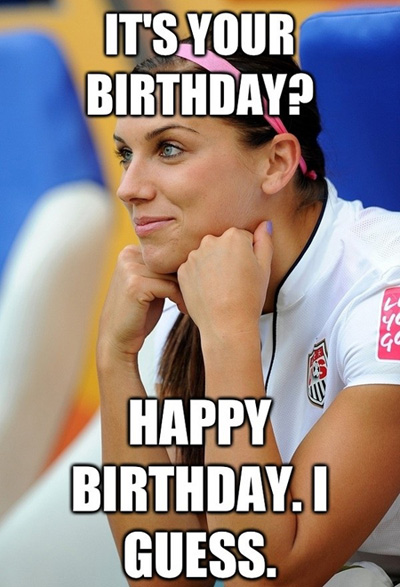 Cute Girl Funny Sarcastic Happy Bday Meme For Her