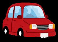赤の自動車のイラスト