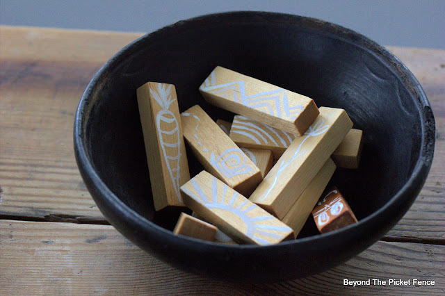 An Old Bowl and How to Make Conversation Starter Blocks