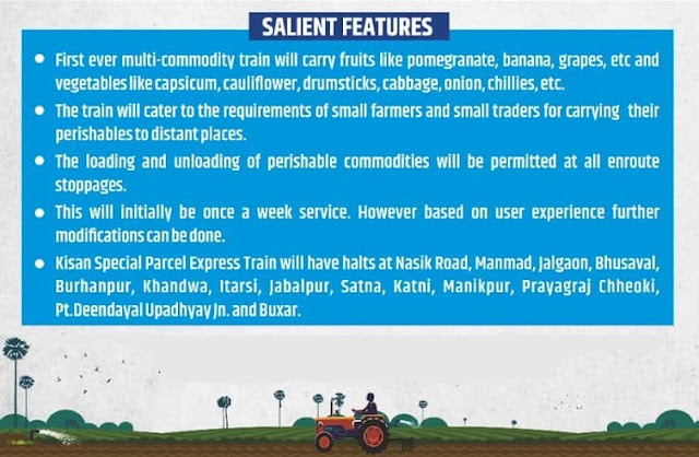 key features of kisan rail special train service
