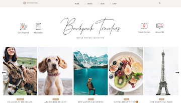 Backpack Traveling Blogger Template By ThemeXpose