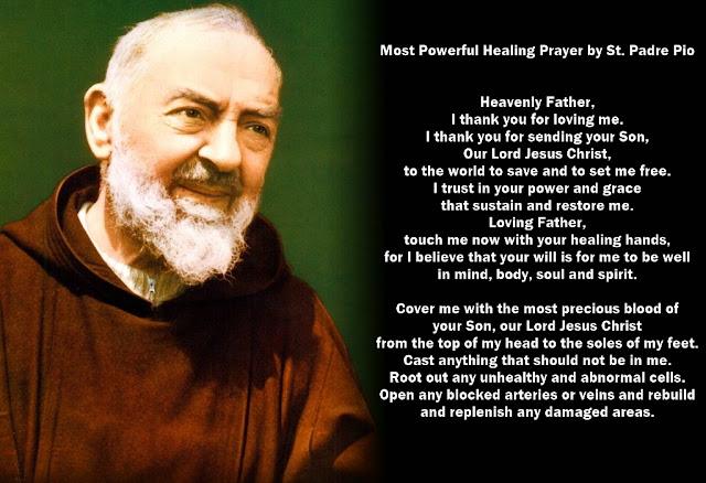 Healing Prayer by St. Padre Pio