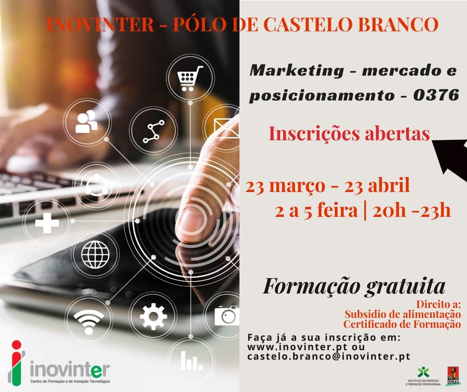 Curso gratuito de Marketing (Mercado e posicionamento) em Castelo Branco