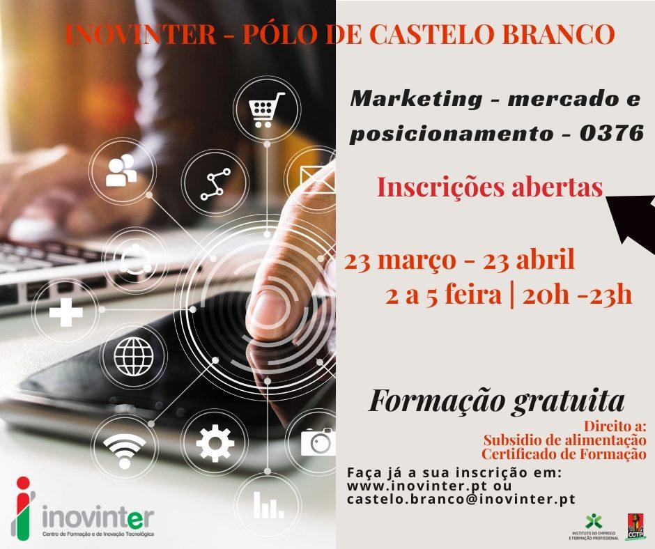 Curso gratuito de Marketing (Mercado e posicionamento) em Castelo Branco