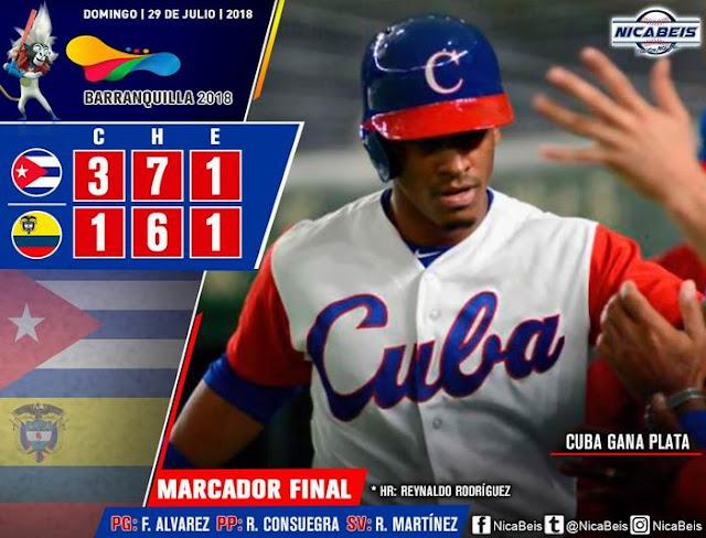 La selección de Cuba ganó el segundo boleto que otorgaba el torneo beisbolero de los Centrocaribes a los Juegos Panamericanos Lima-2019, al aventajar a Colombia 3-2 en el partido-epílogo de la lid regional