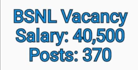 bsnl in vacancy 2020; Total Vacancies 320 Apply Online: 30 Aug 2020