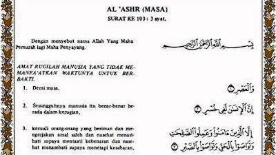 Surah al-Ashr Kunci Sukses Kehidupan