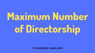 a person can be a director in a maximum of