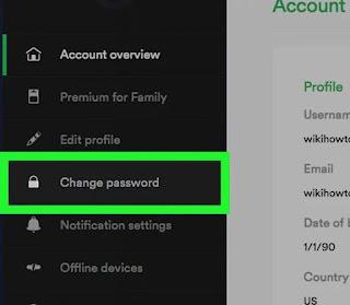 Cara Ganti Password Spotify