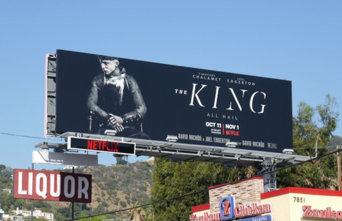 King Netflix film billboard
