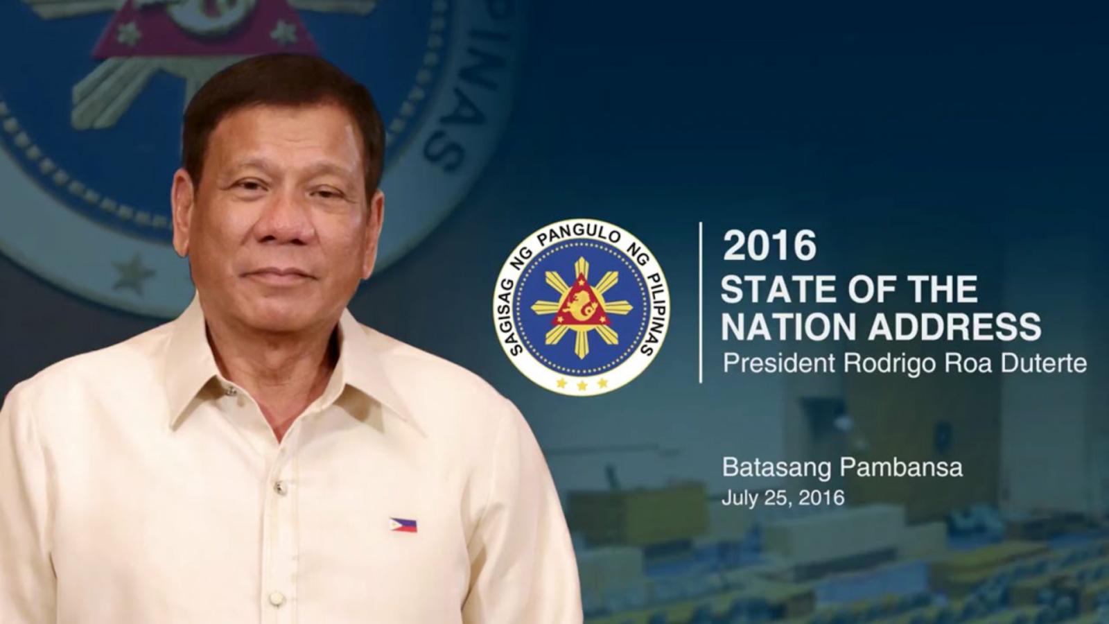 Duterte SONA 2016 speech