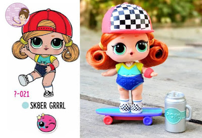 Sk8er Grrrl lol doll with real hair from #hairgoals wave 1