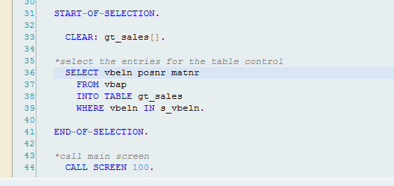 Table Control Example ABAP - SAP Integration Hub