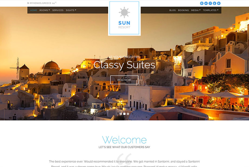 Sunresort Premium Responsive Theme - Responsive Blogger Template