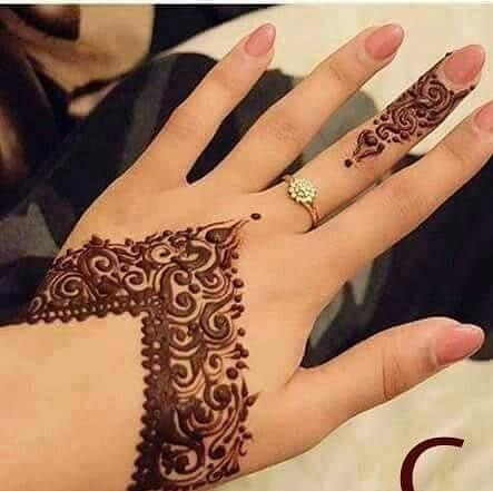 simple arabic mehndi designs images