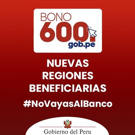 Bono 600 Soles ¿Aún se puede cobrar?