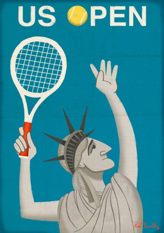 United States Open Tennis grand slam poster