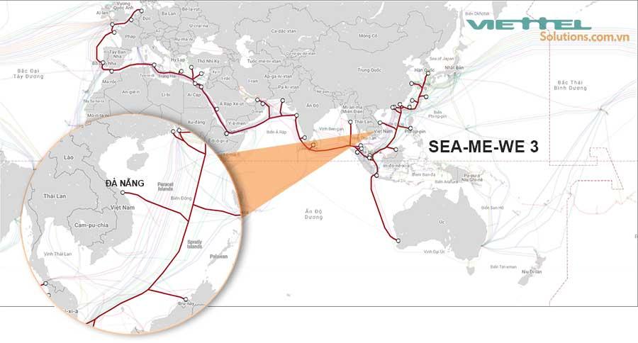 Hình 2 - Cáp quang biển SMW3 (SEA-ME-WE 3)
