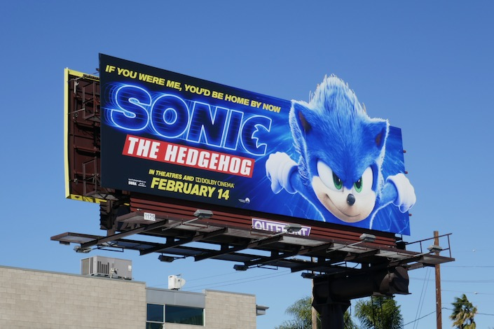 Sonic Hedgehog billboard