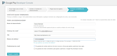 Como se registrar no Google Play - Imagem 3