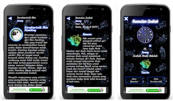 Aplikasi untuk ramal zodiak di android
