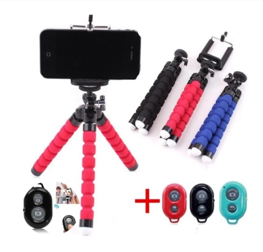 Monopod Support Phone Remote Control Flexible Octopus Tripod Mount for Mobile Phone Camera Selfie Stand