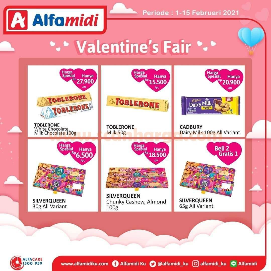 ALFAMIDI Valentine's Fair! Promo Harga Spesial Aneka Cokelat 1 - 15 Februari 2021