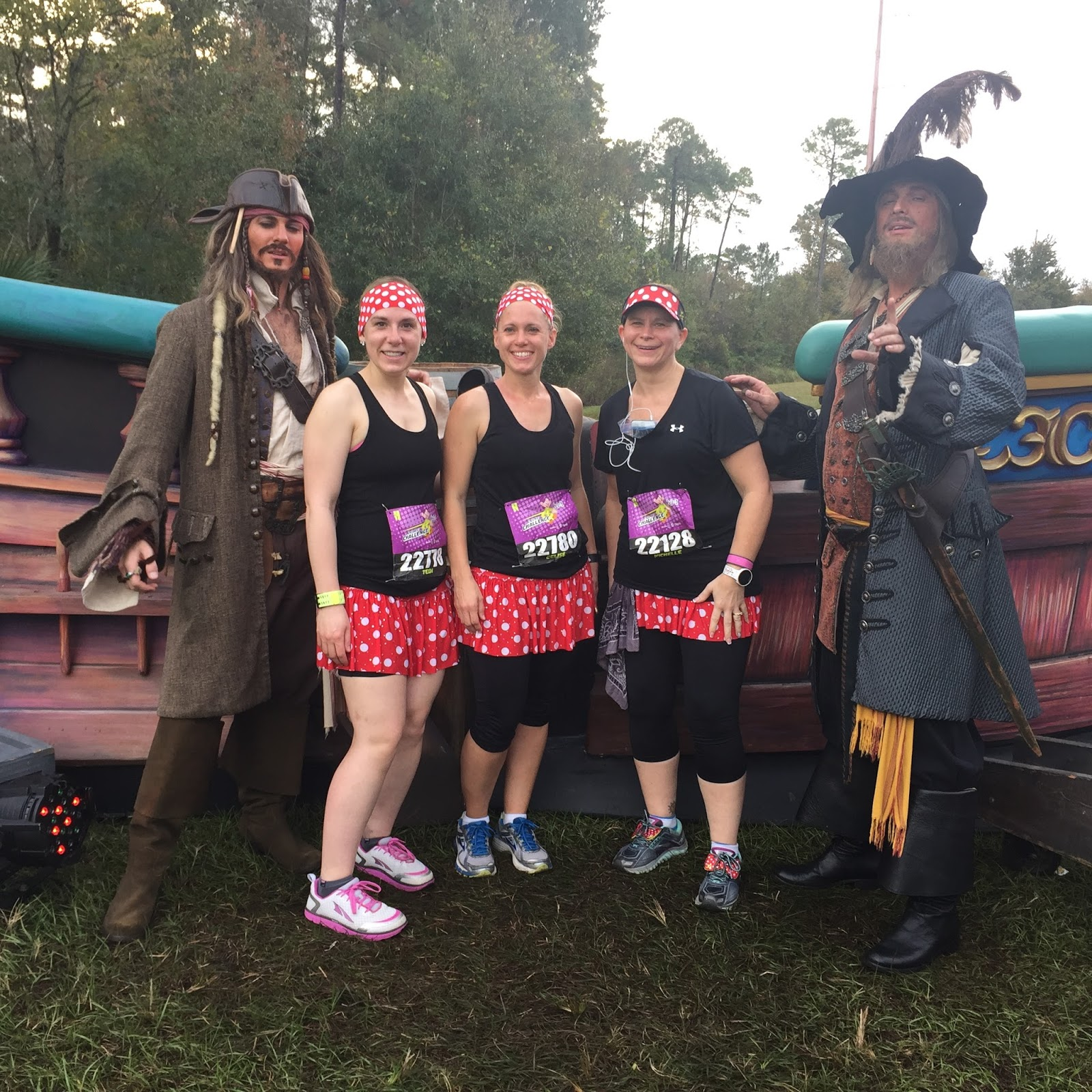 Dopey Challenge Mickey Marathon 2016 Jack Sparrow and Captain Barbosa