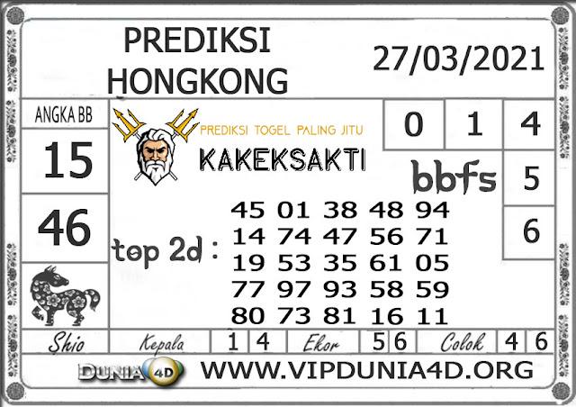 Prediksi Togel HONGKONG DUNIA4D 27 MARET 2021