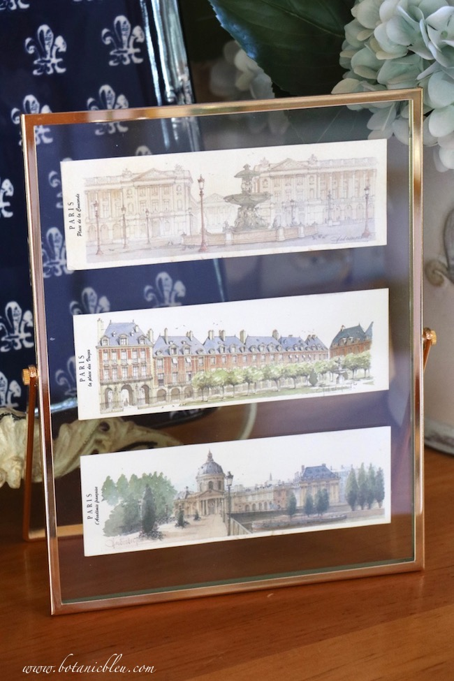 Museum shops, tourist offices, and street corner stands have beautiful prints suitable for framing in a floating glass frame