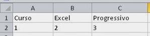 Números alinhados na esquerda da célula do Excel