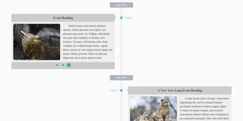自製美觀的 RWD 時間軸效果(timeline)﹍jQuery + Bootstrap 外掛