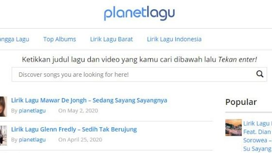 Download Planet Lagu
