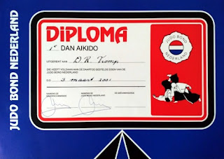 Aikido first dan diploma by JBN