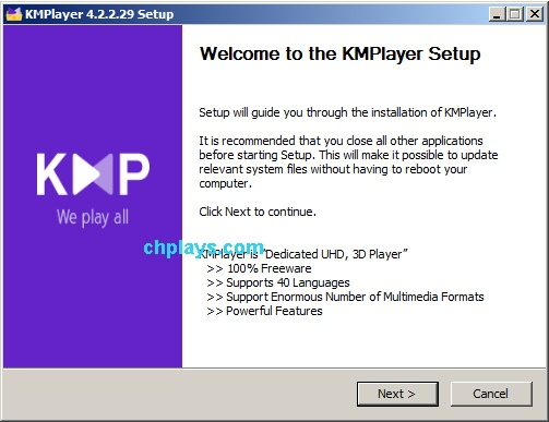 Hướng dẫn cài đặt KMPlayer trên máy tính c