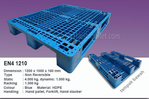 Pallet Plastik EN4 1210 Ukuran 1200x1000x160 mm