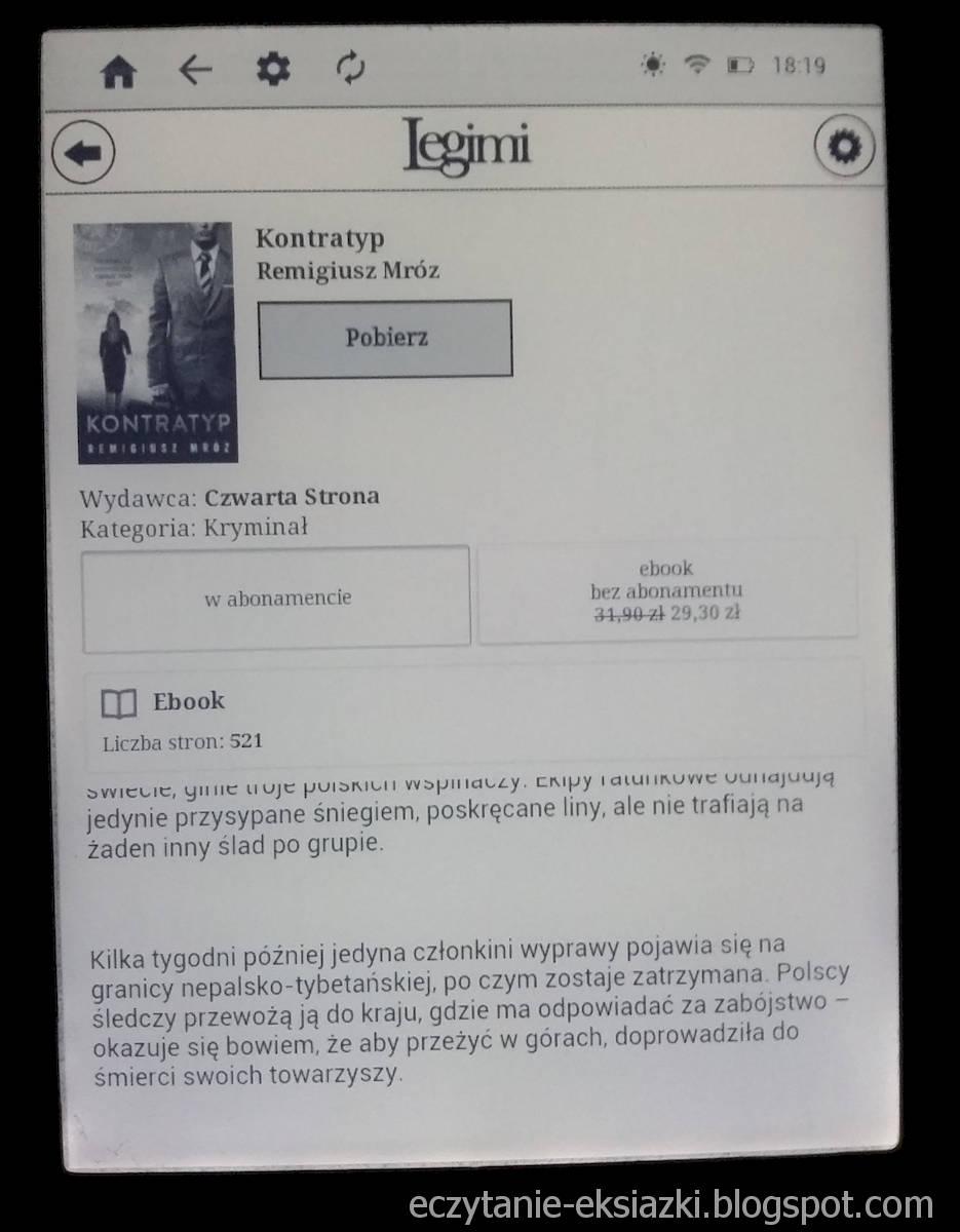 InkBOOK LUMOS – opis książki w Legimi ebooks