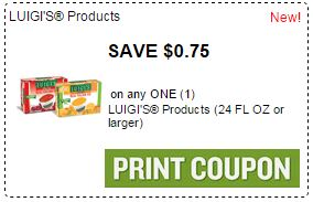 Print $0.75/1 box LUIGI'S Real Italian Ice Coupon.