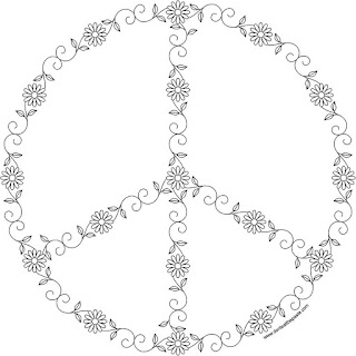 Peace symbol to print and color- available in jpg and transparent png format #hippie #spring #peace