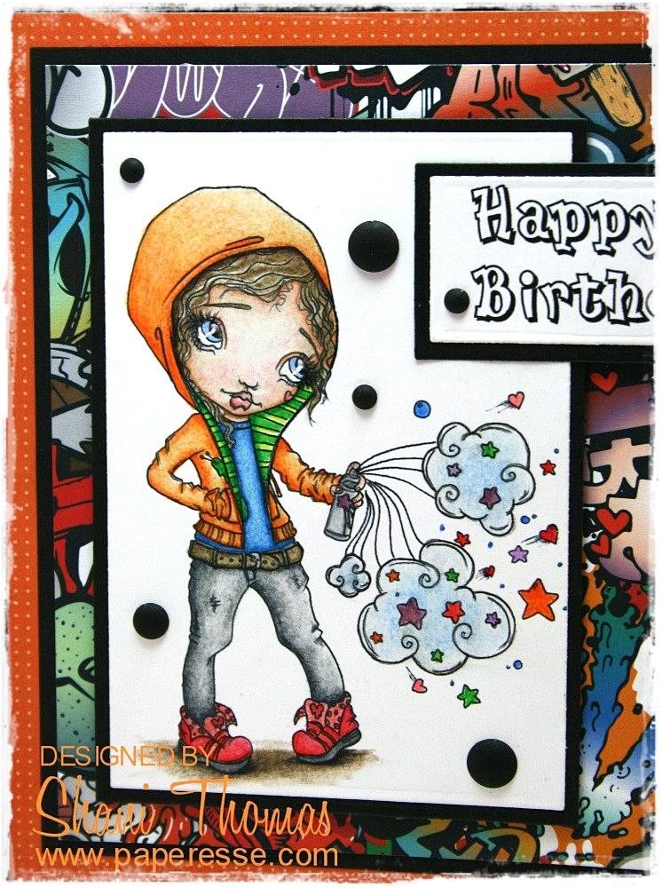 Paperesse Female Graffiti Artist Birthday Card