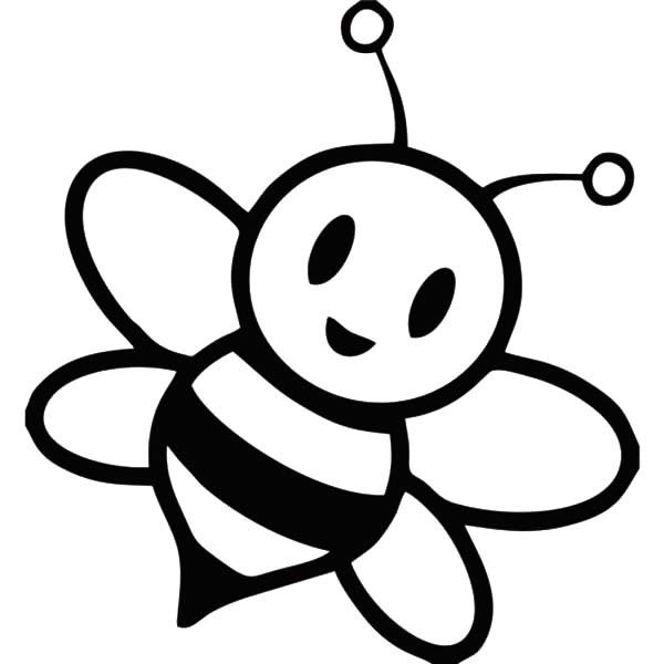 صورة نحلة للتلوين للاطفال