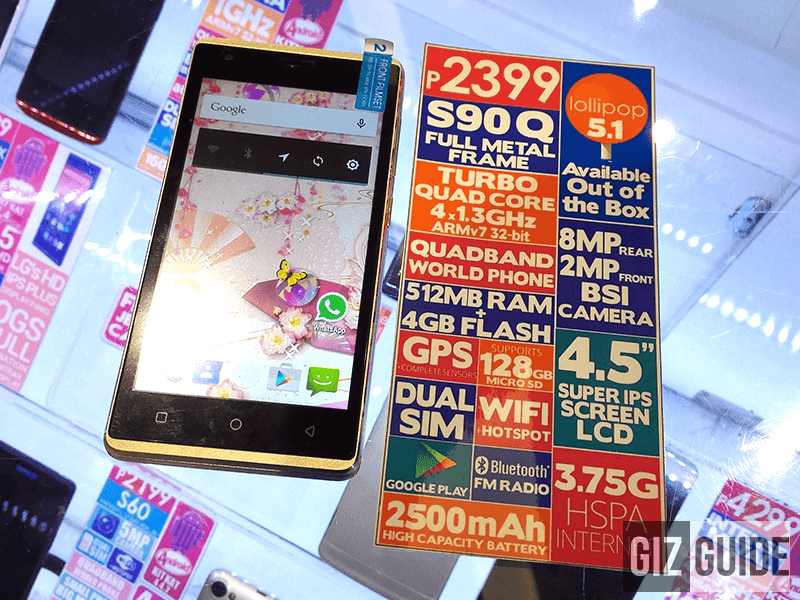 Firefly Mobile S90 Q Spotted Lollipop Metal Frame