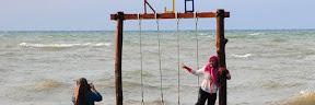 Wisata Pantai Karang Jahe di Rembang Jawa Tengah