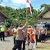 Polres Pulang Pisau, Peringati HUT RI ke 75 Bagikan masker dan Bendera