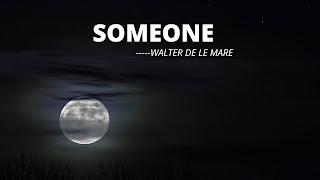 Lesson 5 | Someone by Walter de la mare all questions answers | Class 5 | SCERT